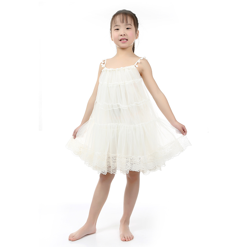 Kaiya Kids Clothing Girl Summer Dress Ivory Chiffon Children's Clothing dresses 2016 Summer Girls Boutique Clothes Kids Dresses(China (Mainland))
