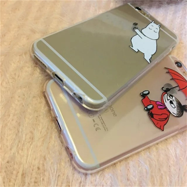 Moomin Little My Girl Soft Transparent TPU Phone Case For iPhone 6 6s 6plus 5s 5se Case Cover Cute Cartoon    C66