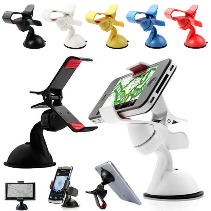 Universal Stick Car Windshield Mount Stand Holder For iPhone Mobile Phone GPS Free shipping puscard(China (Mainland))