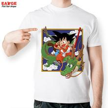[EATGE] Series Dragon Ball Z Tshirt Casual Frame Face Of Kid Son Goku T Shirt Ride On Green God Dragon T-shirt Style Anime Tee