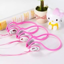 2016 AL-1 Ear-Hook for kids earphone for Iphone samsung MI LG Huawei HTC kitty earbuds mobile phone Doraemon headphone best gift