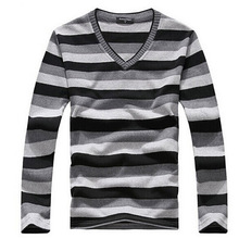 Free Shipping Mens Spring Slim Fit V-NECK Shirt Casual Solid Thin Pullovers Sweaters For Mens 39(China (Mainland))