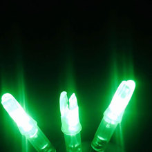 3PCS Lighted Nock Compound Bow Green LED Lighted Arrow Nock For ID 6 2mm Archery Hunting