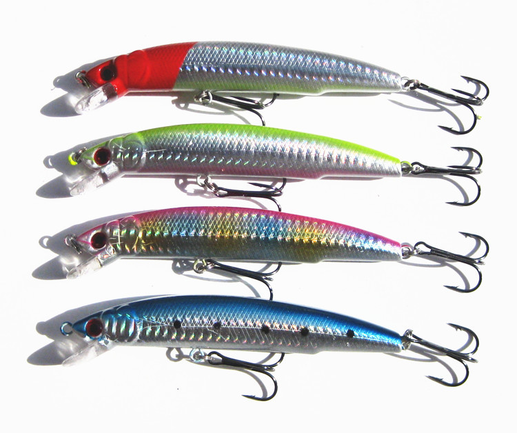 Promotion! 4pcs/lot fishing lures 11.5cm 18g minnow artificial bait jigs lures isca bait free shipping(China (Mainland))