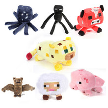 Free Shipping New Arriveal Minecraft plush toy 7pcs/lot Brinquedos Game Toys Cheapest Sale High Quality Plush Toys Game Toys(China (Mainland))