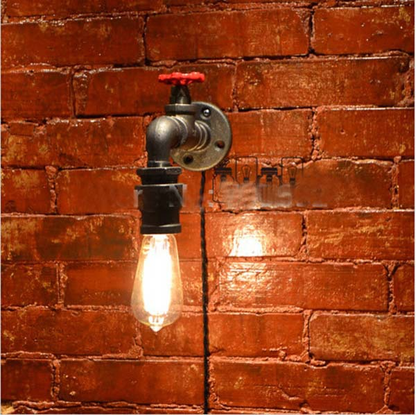 Loft american style wall lamp vintage water pipe lamp CP147<br><br>Aliexpress