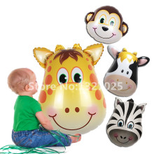 Giraffe Zebra Cow Monkey Birthday Party Animal pet monkey balloon for children's toys baby toy globos wedding party decoration(China (Mainland))