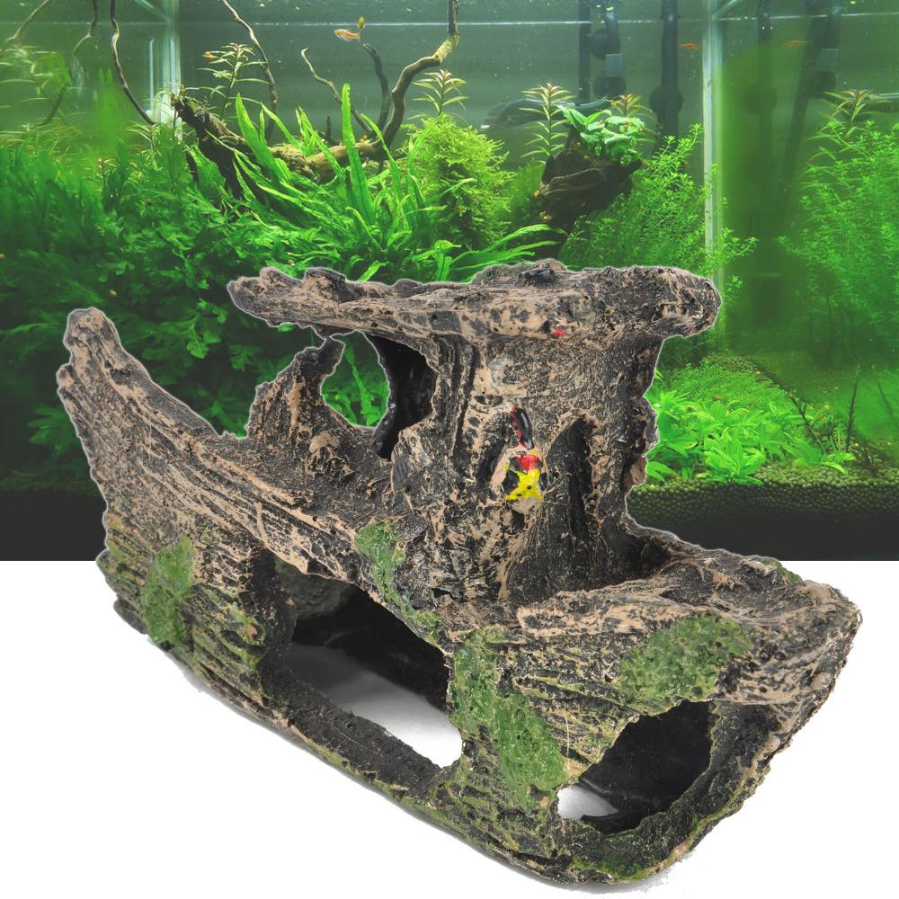 лодка декоративная в аквариуме