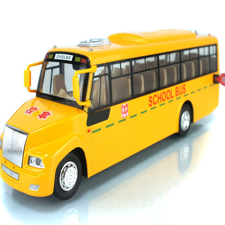 Free shipping classic alloy pull back large American school buses toys acousto-optic car model best gifts for boy(China (Mainland))