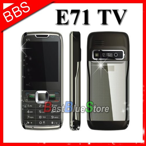 Free shipping Mini E71 mobile phone tv dual sim Polish / Russian(China (Mainland))