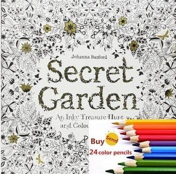 Секретный сад в Inky охота за сокровищами и книжка-раскраска для детей взрослых снять стресс убийство срок граффити живопись рисунок книга