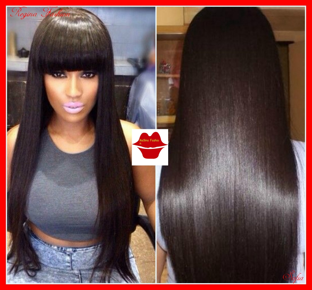 Cheap Wholesale Price Brazilian Stright Full Lace Wig With Bangs african american wig silky straight human hair lace front wig <br><br>Aliexpress