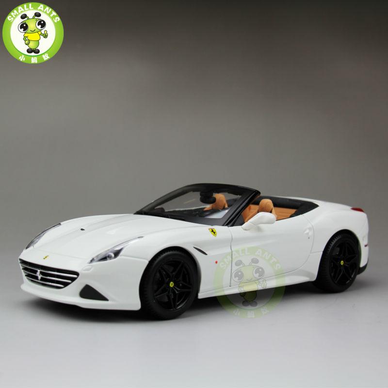 1:18 Scale Ferrar California T Signature Series Diecast Car Model Open Top Bburago BBU16904 White(China (Mainland))