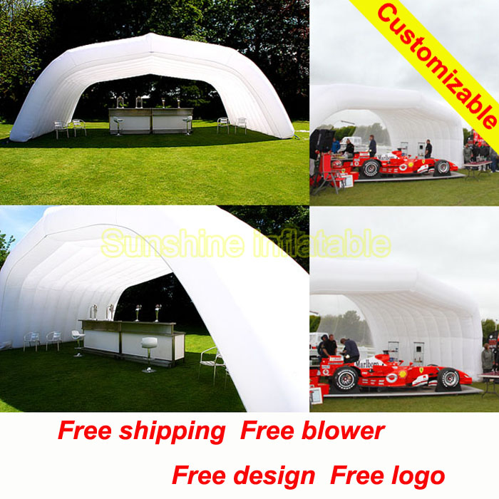 10mWx4mDeepx4mH outdoor large exhibition booth display inflatable marquee inflatable roof inflatable event tent(China (Mainland))