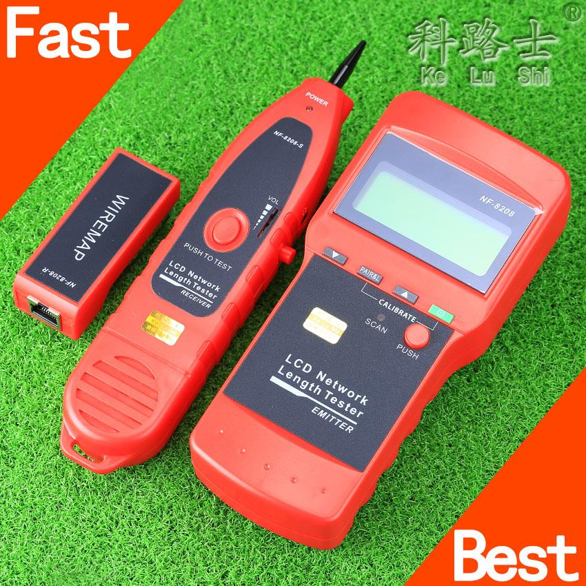 NF-8208 Fiber Optic Equipment Network LAN Cable Tester Wire Tracker Tracer Length Scanner hunting RJ45 Free Shipping(China (Mainland))