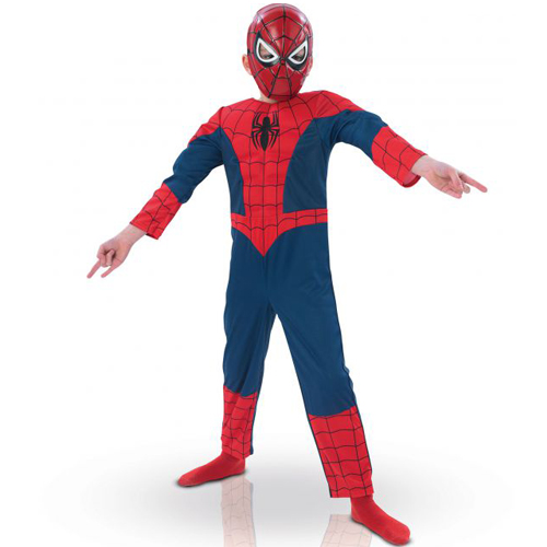 New Hot Ultimate Spiderman Kids Muscle Costume Children Fantasia Halloween Carnival Cosplay Fancy Dress 4-6y(China (Mainland))