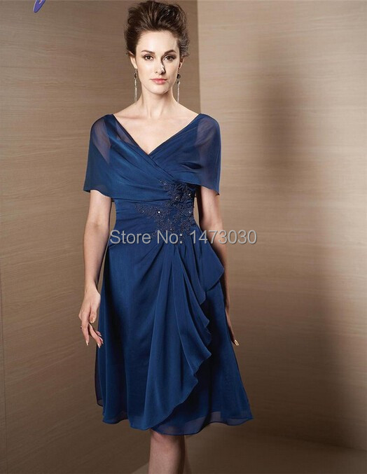 High End Elegant Short Chiffon Casual Mother of the Bride Dresses For Wedding Party 2015 CA022(China (Mainland))