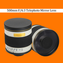 Buy 500mm F/6.3 Telephoto Mirror Lens + T2 Mount Adapter Ring Canon Nikon Pentax Sony Olympus DSLR for $130.03 in AliExpress store