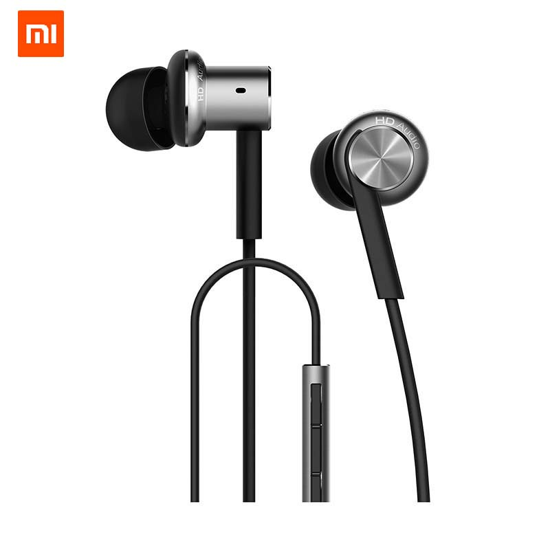 Original Xiaomi Hybrid Earphone 2 Units In-Ear HiFi Earphone Xiaomi Mi 1more Piston Headphone With Mic Circle Iron Mixed
