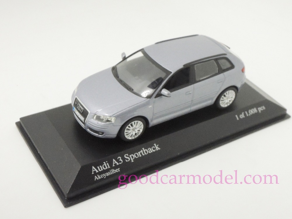 New Minichamps 1:43 Car Model Audi A3 Sportback 2004 400014301 Free Shipping From HK(China (Mainland))