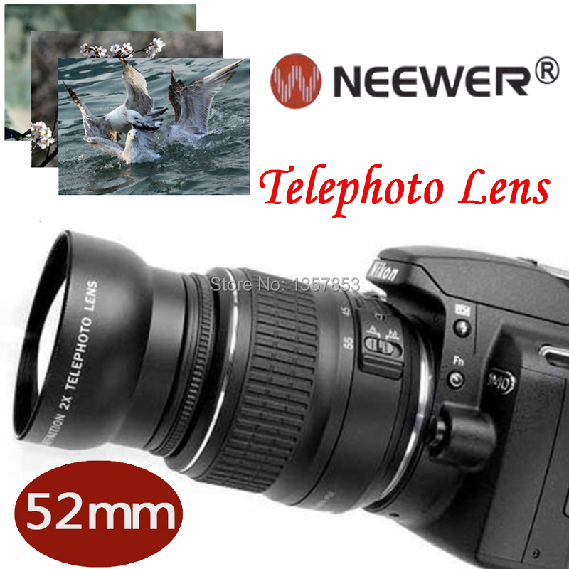 NEEWER 52 MM 52mm 2x HD Telephoto Camera Lens Accessorires for Nikon Canon Sony Pentax DSLR Cameras with 52MM Lens Thread Size!!(China (Mainland))