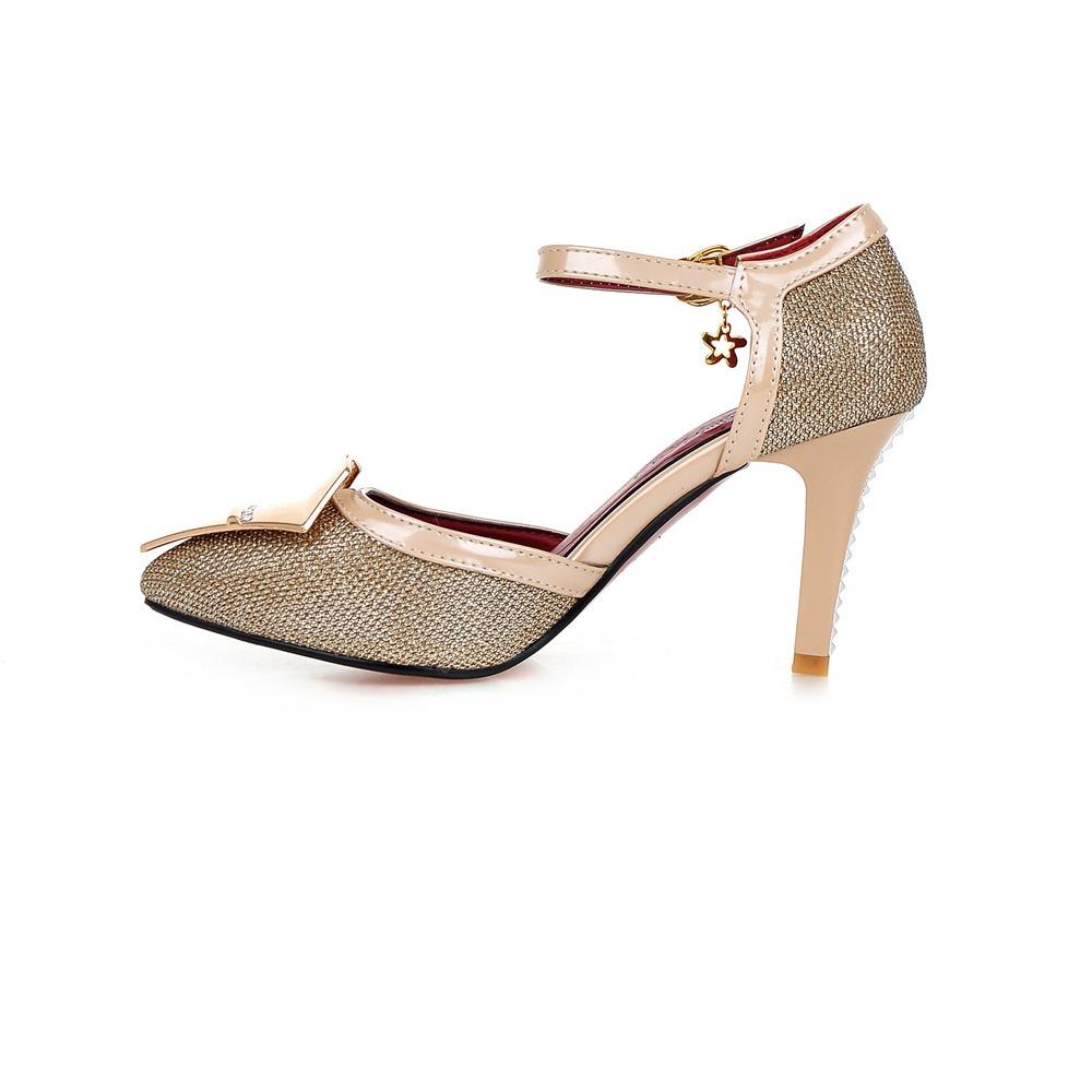 Silver One Inch Heels - Is Heel