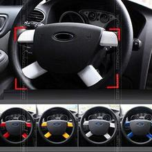 FIT FOR 2005-2011 FORD FOCUS MK2 CHROME STEERING WHEEL COVER INSERT BADGE TRIM ACCENT PANEL EURO ACCESSORIES(China (Mainland))