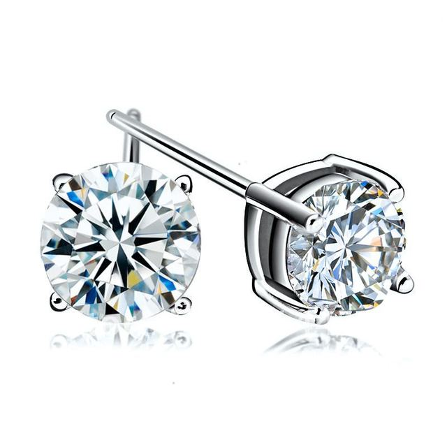 925 pure silver stud earring hearts and arrows jewelry silver female birthday gift