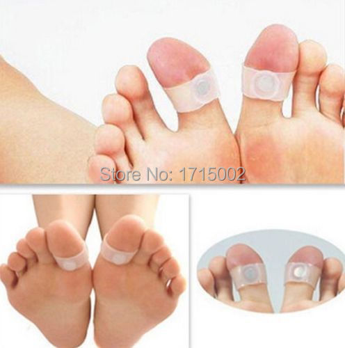 FD290 Slimming Health Silicone Magnetic Foot Massage Lose Weight Toe Rings 2PCs