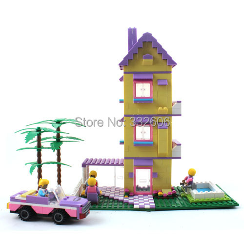 Ausini Building Blocks Princess Lovely Villa House Construction Educational Bricks Hot Toys Girls Christmas Gift - C&T store
