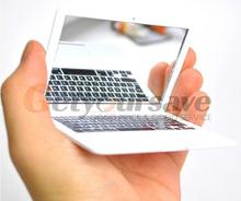 Fashion Beauty Mini White Pocket for MacBook Air Laptop Clear Mirror Women(China (Mainland))