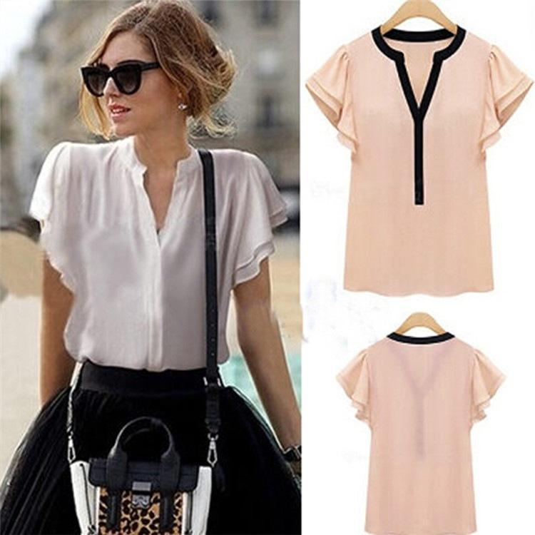 цена Женские блузки и Рубашки Brand new 2015 Blusas Femininas v Roupas онлайн в 2017 году