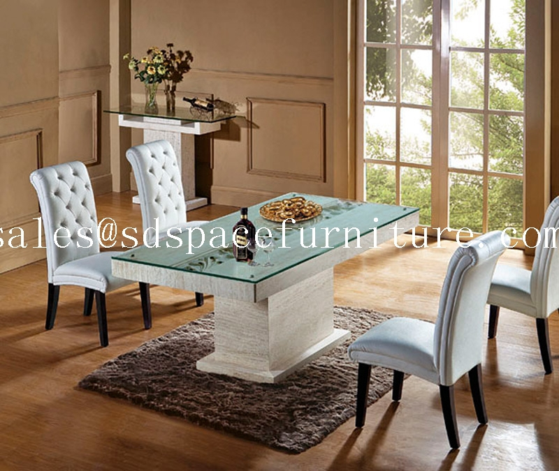 High end dining room furniture iran natural travertine for High end dining room furniture