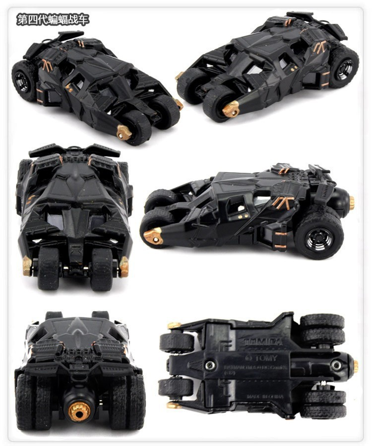 """5pcs/lot Free Transport DC Tomica Restricted TC Batman Steel Batmobile Collectible Mannequin Toys 7cm/2.eight"""" New in Field"""