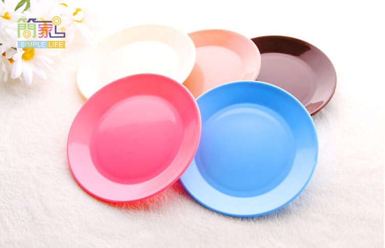 Creative plastic small plates small plates Mini dish fruit dried hotel supplies Kitchen dining room bar simple style tableware(China (Mainland))