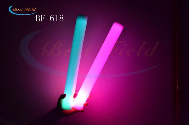 New arrival Custom-make logo Free shipping 150pcs/lot  4.5*40cm 7mode led flashing foam stick led stick for christmas