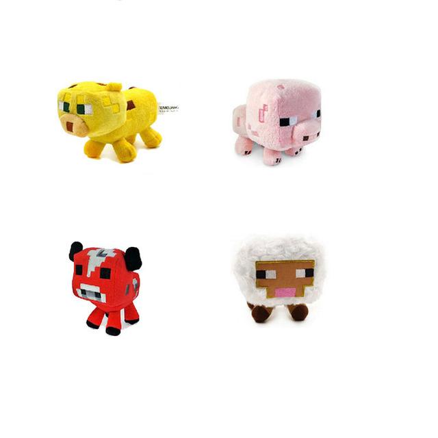 4 шт./лот Minecraft Игрушки Высокого Качества Фаршированные Плюшевые Игрушки Куклы Для Детей Дети Подарок