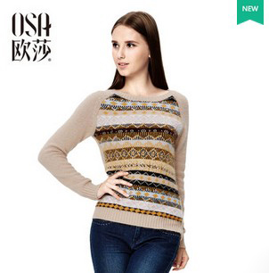 OSA 2014 Winter New Arrivals Woolen Pullover Women Round Neck Raglan Sleeve Casual Sweater Female In Stock SE412060(China (Mainland))