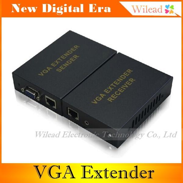 High quality Video VGA 1x1 UTP Extender Over Cat5e 6 Up to 300M VGA UTP Extender 1x1Splitter with Audio,vga extender 300m(China (Mainland))