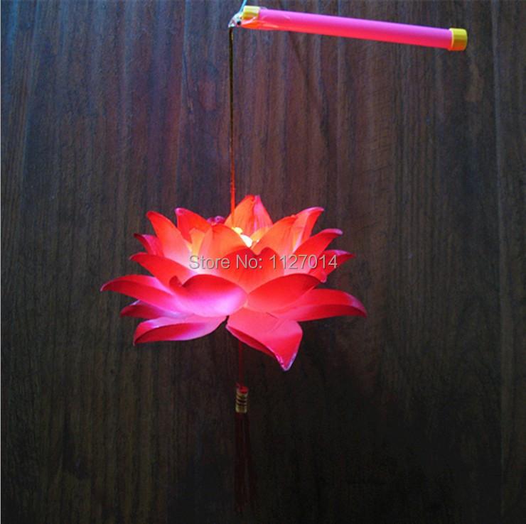 Novelty Items Battery Led Lotus Lantern Nursery Night