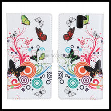 100 pcs/lot New arrival!Flower With Stand Holder Luxury flip leather case For Oneplus one/One plus one+Card Slot