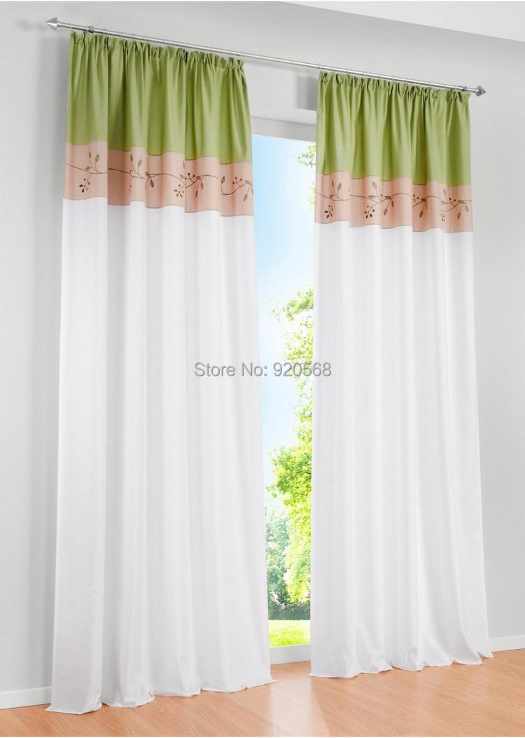 Aliexpress.com : koop stof geborduurd patchwork gordijn woonkamer ...