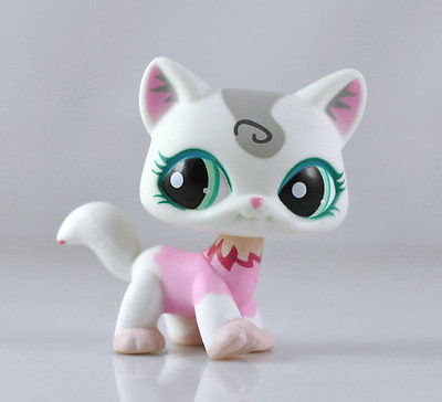 Littlest Pet Shop Cat Kitty Child Girl Figure Toy Loose LPS865(China (Mainland))