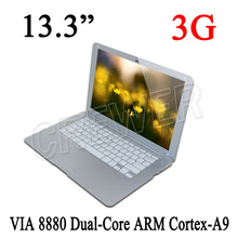 Cheapest 13.3inch VIA8880 ANDROID 4.2 DUALCORE Cortex A9 1.5GHZ HDMI RAM1G ROM8GB WIFI NOTEBOOK LAPTOP COMPUTER Russian PC WIFI