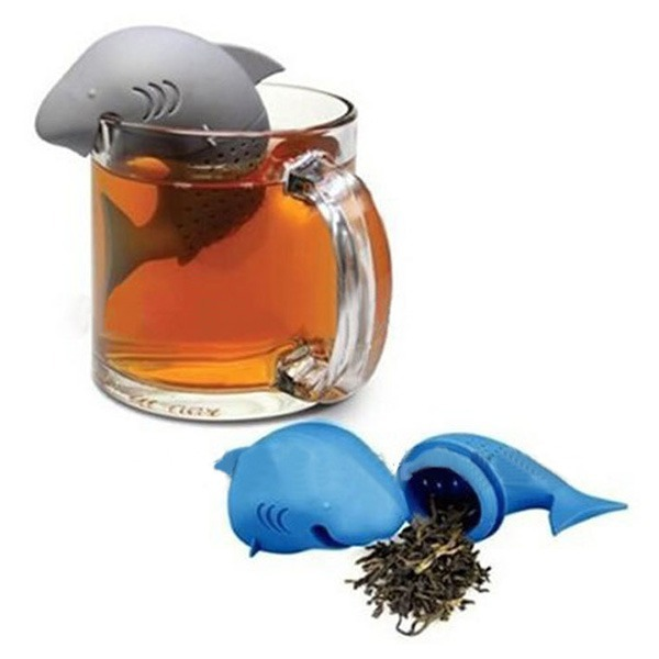 Useful Silicone Shark Infuser Tea Leaf Strainer Herbal Spice Filter Diffuser()