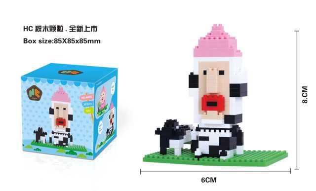 Mayorista Fairy Granja NaonoBlocks Mini Bloques de Construcción de BRICOLAJE Regalos Juguetes Para Niños de Dibujos Animados Japoneses Micro Bloques de Juguetes de Los Niños(China (Mainland))