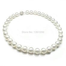 000139 Top quality!WHITE 12-13MM ROUND SOUTH SEA PEARL NECKLACE 18INCH 18K GOLD CLASP (A0322)(China (Mainland))