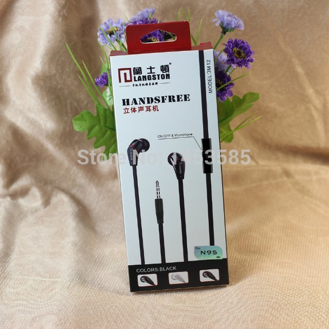 1000pieces/lot New fashion langston JM-12 Earphone bass with Hands-free and Mic For Apple Samsung Sony HTC Mp3 TabletPC(China (Mainland))