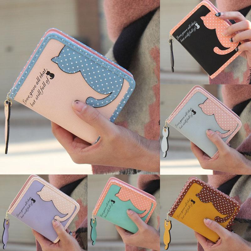 HTB1UVdZMpXXXXXpaXXXq6xXFXXXI - Fashion Small Wallet Women Short Luxury Brand Cute Female Purse PU Leather Cat Design Girls Lady Zipper Wallets Card Holder Bags