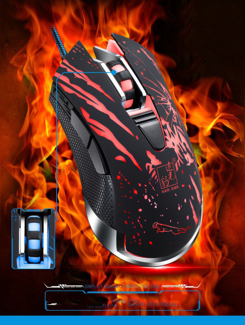 2017 New Professional 6D USB Wired Optical Gaming Mouse PC Computer Game Mouse Cable Mice for Dota 2 LOL CSGO Gamer Player